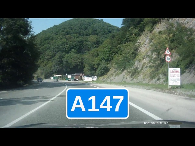 Трасса А147 на Джубгу. [ Туапсе - Новомихайловский ]
