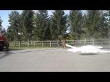 Показательная тренировка пожарных в Бердске