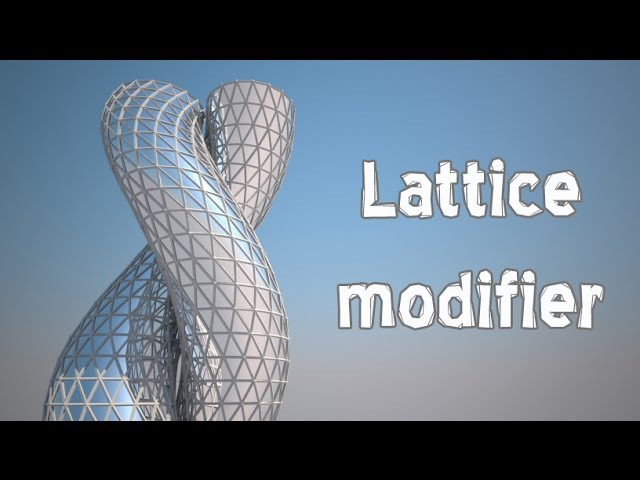27 Modifiers in 3Ds MAX (Lattice)