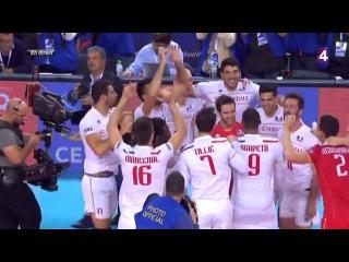 La balle de match de Ngapeth qui offre l'Euro de volley ball aux Bleus