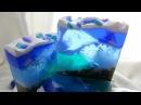 """Мыло-кубик ручной работы """"Сердце океана"""""""