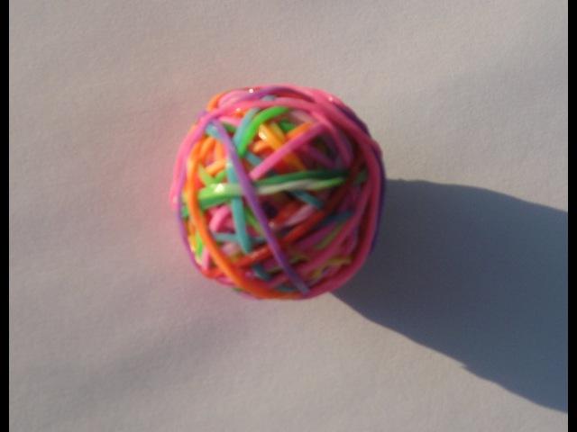 Как сделать мячик попрыгунчик из резинок Rainbow Loom без станка. Поделки своими руками