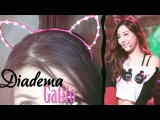 DIY : Diadema Gatito // Cat ears headband -Tiffany SNSD-