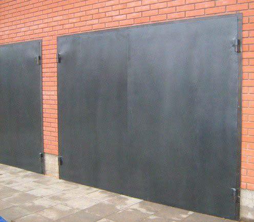 железные гаражные ворота и дверь цена