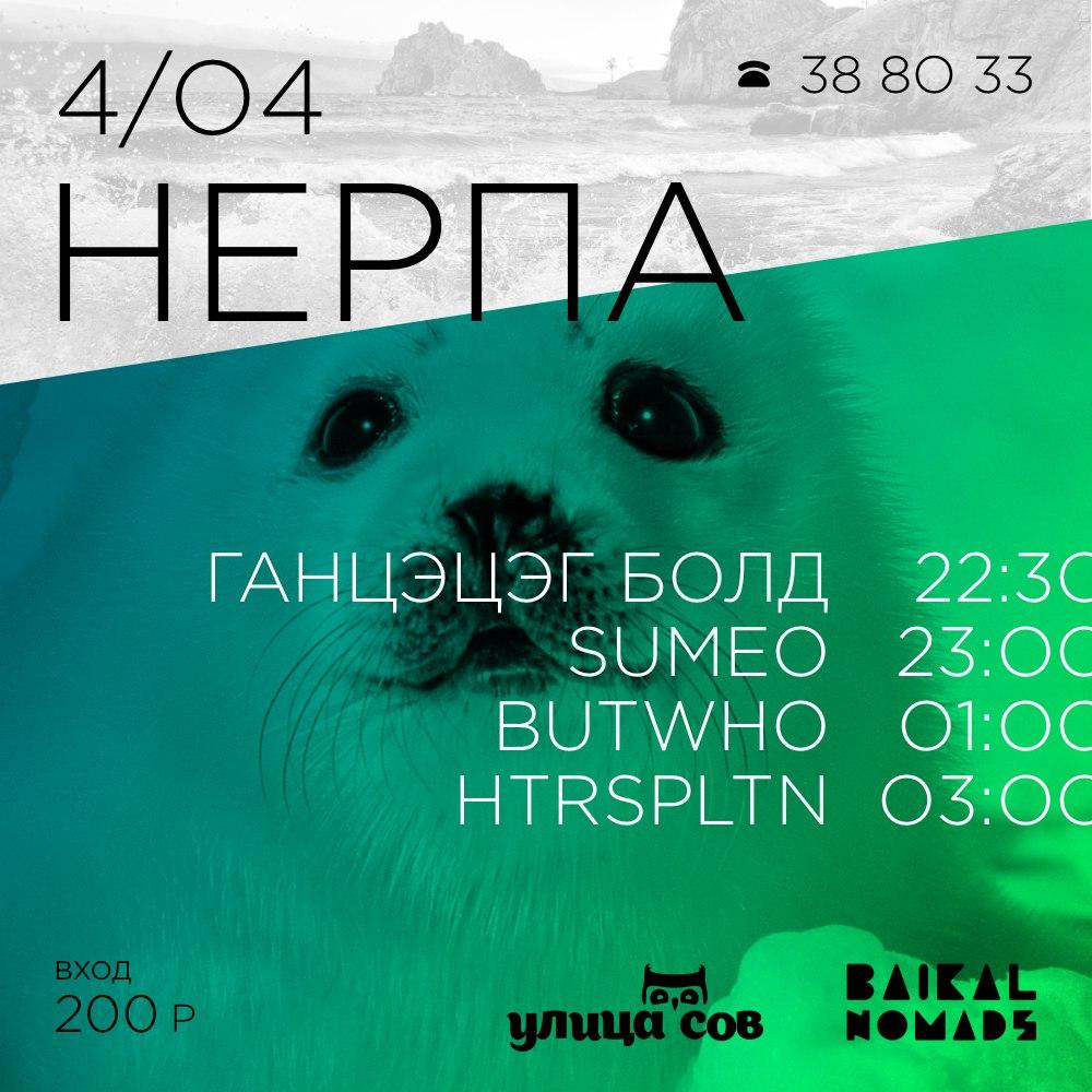Афиша Улан-Удэ Нерпа Baikal Nomads 4/04