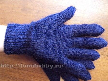 Для вязания перчаток вам
