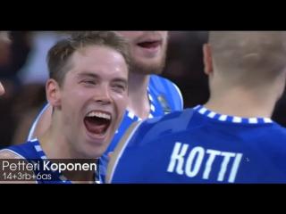 Петтери Копонен 14 очков в матче с Боснией
