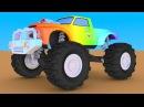 Мультики про машинки. Конструктор cобираем внедорожник монстр-трак Monster Truck