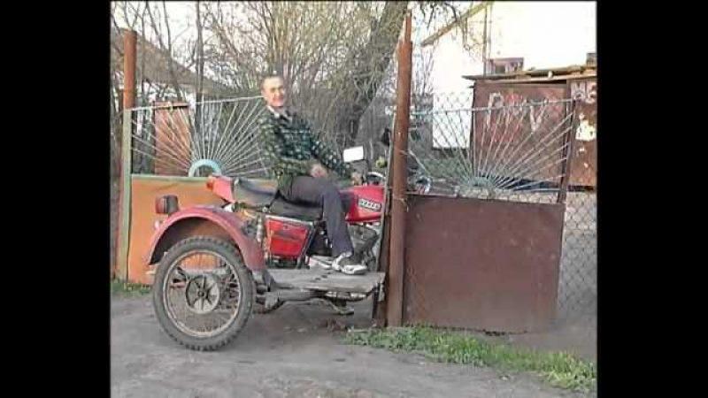 ZA-Auto.ru - Мотоцикл против забора