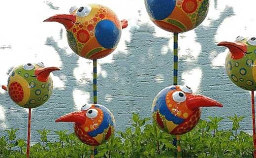Птички из пластиковых бутылок