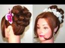 Вечерняя прическа на средние волосы. Hairstyle for medium hair