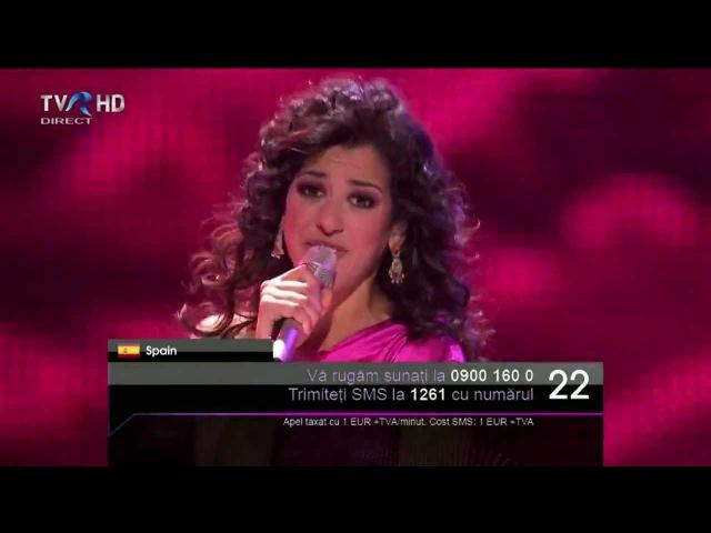 HD Eurovision 2011 Spain: Lucía Pérez - Que Me Quiten Lo Bailao (Final)