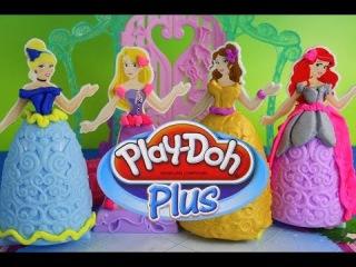 Play-Doh Plus Design A Dress Ballroom Disney Princess Play Doh Rapunzel, Ariel, ...