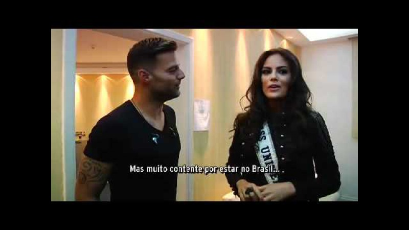 Miss Universe 2010 Meets Ricky Martin