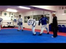 Master Vasilis Alexandris teaching ITF Taekwon do advanced sparring class