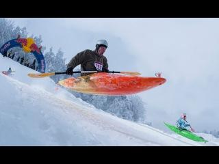Snow Kayak Race in Estonia - Red Bull Snow Kayak 2013