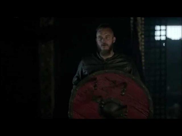 Сериал Викинги (Vikings, 2013) сцены с метанием копья,топора и ножей