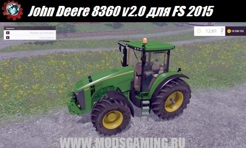 Farming Simulator 2015 download mod tractor John Deere 8360 v2.0