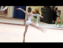 6-летняя девочка-гимнастка на выступлениях !