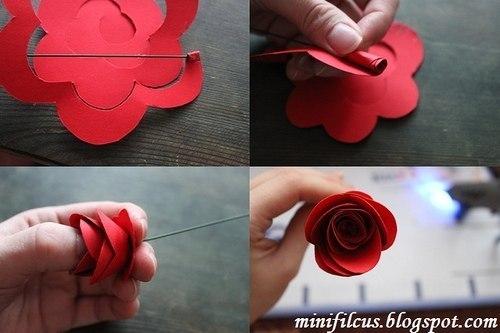 Просты розы из бумаги своими руками