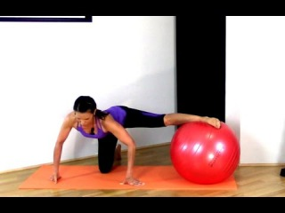 FREE Exercise Ball Stability Ball Workout - Fit Ball Inner Thighs and Abs BARLATES BODY BLITZ