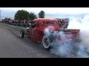 NON STOP Back Road BURNOUTS Spooky Moon Car Show