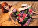 DIY Одежда для кукол Барби. Как сшить платье. \ Clothes for Barbie doll. How to make summer dress.