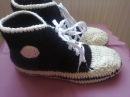 Кеды вязаные крючком. Ч.2. Sneakers crochet. P.2.