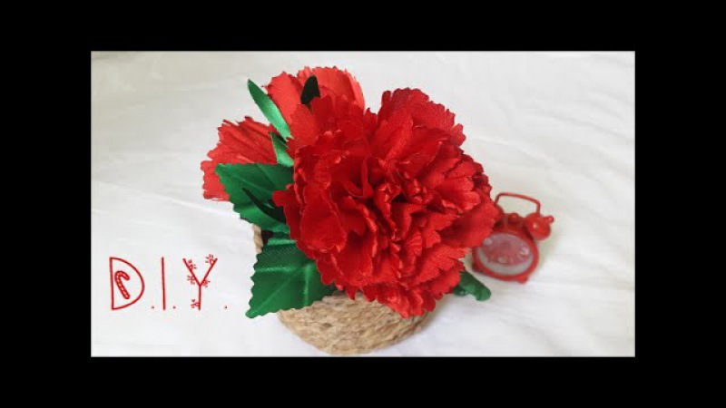❁ D.I.Y. Satin Carnation Flower Headband | MyInDulzens ❁