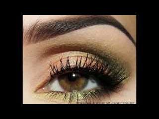 Вечерний макияж для карих глаз. Пошаговый = Золотой и Зеленый =
