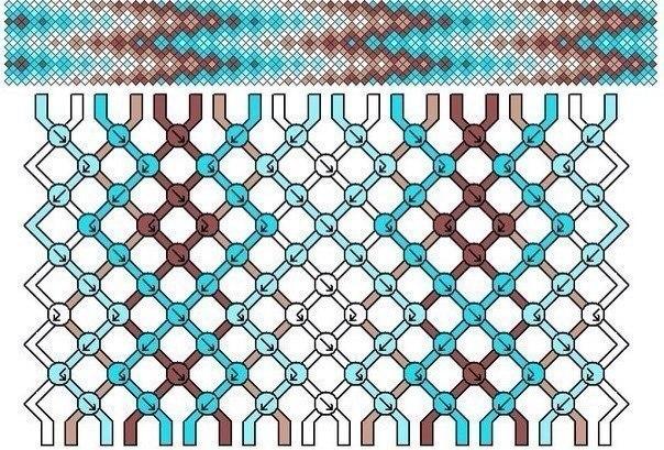 Схема фенечки гейзер