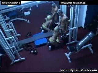 Порно с красотками - Выебал в спортзале
