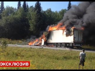 Пассажирский автобус столкнулся с грузовиком в Красноярском крае - Первый по срочным новостям — LIFE | NEWS