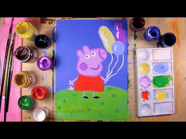Как нарисовать Свинку Пеппу урок рисования для детей 4 12 лет