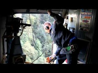 Спасатели МЧС с помощью вертолёта эвакуировали из леса пострадавшего мужчину