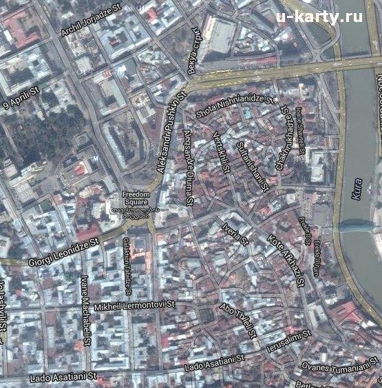 сочи со спутника карта: