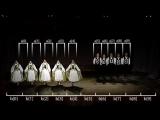 Второй пример сортировки, сортировки слиянием, который показывает танцевальная группа Transylvanian-saxon (German) folk dance