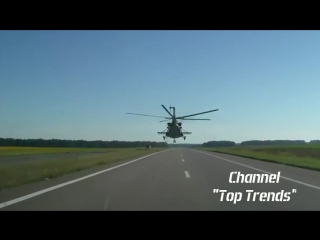 Glory to Ukraine. Incredible Ukrainian pilot flying in a helicopter