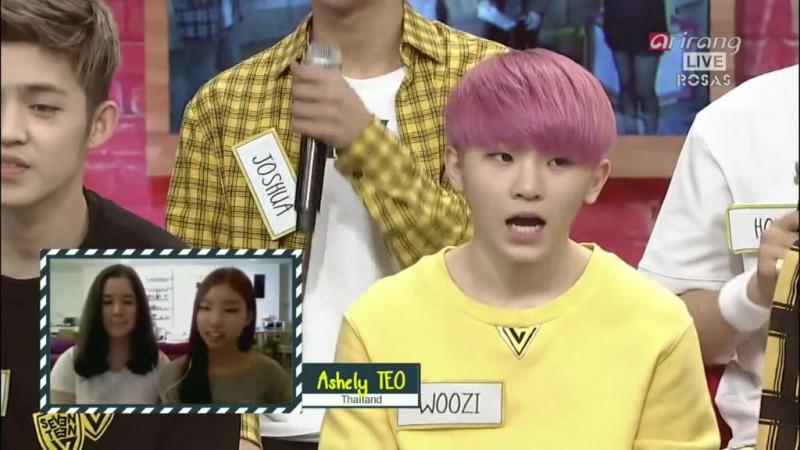 [ROSAS RUS SUB] [150630] After School Club Ep166 Seventeen (세븐틴) - ADORE U (아낀다)