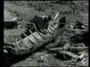 Log Boat or Dugout Building in Finland in 1936