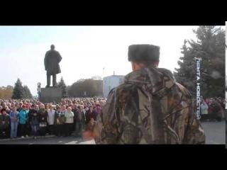 Первомайск. Террорист обьяснил почему он воюет за спинами людей. 29.09.2014
