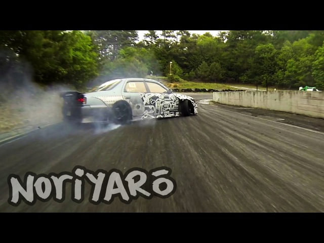 Destroying rubber on a touge-style track in Japan