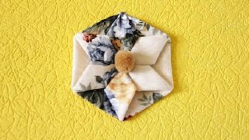 Цветы из ткани своими руками схема оригами Крокус.