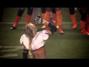 Lingerie Football Player Chugs A Beer Chicago Bliss Alli Alberts