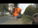 Самая ужасная авария.Человек сгорел заживо.Аварии с грузовиками  burned alive