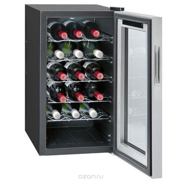 Ksw 345 18 fl/54 l, silver винный холодильник, Bomann