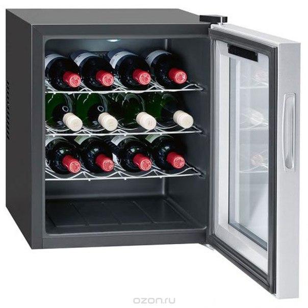 Bomann ksw 344 16 fl/46 l, silver винный холодильник