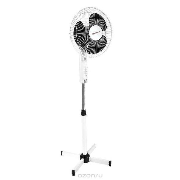 Vs-1200, white grey напольный вентилятор, Supra