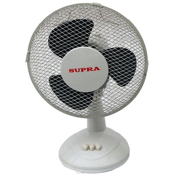 Vs-901, white grey настольный вентилятор, Supra