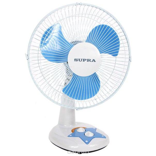 Vs-1211, white blue настольный вентилятор, Supra